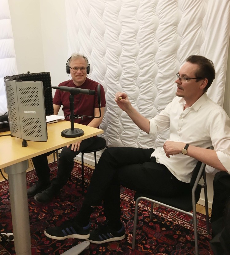 Inspelning av vår podcast