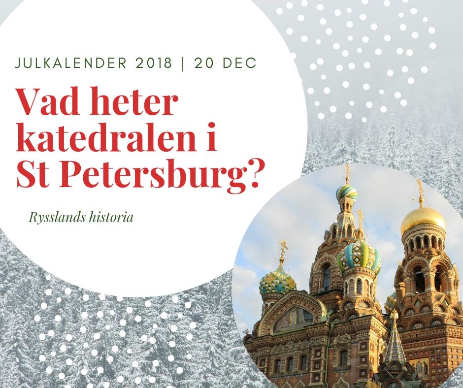Vad heter katedralen i St Petersburg?