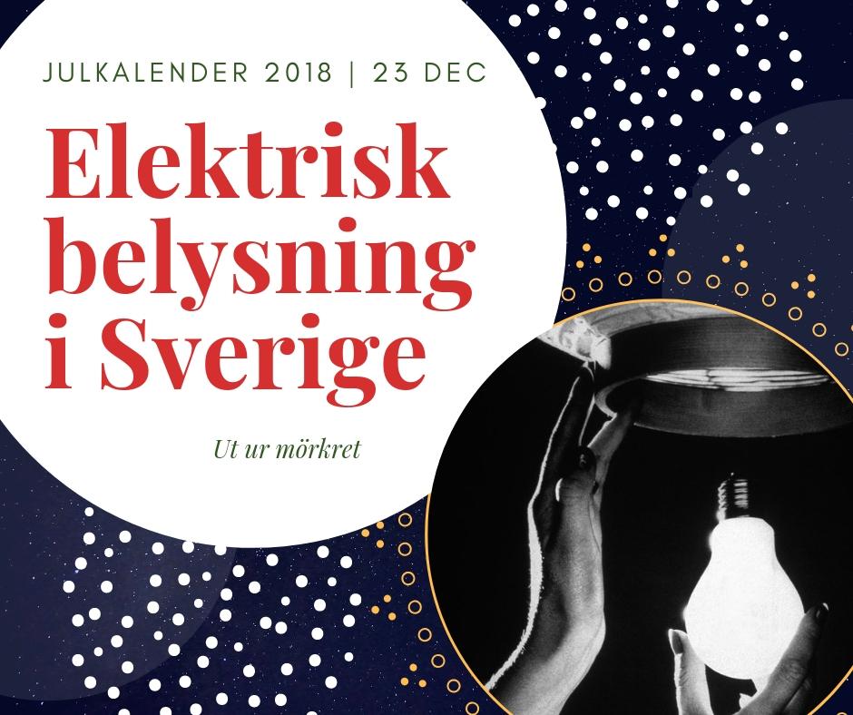 Elektrisk belysning i Sverige