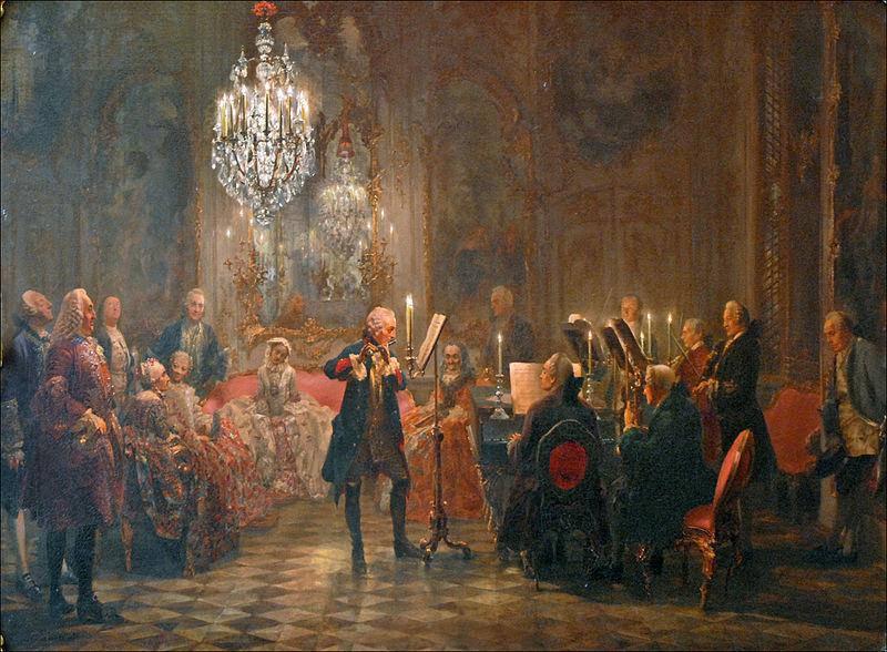 Fredrik den store tyckte om att spela flöjt