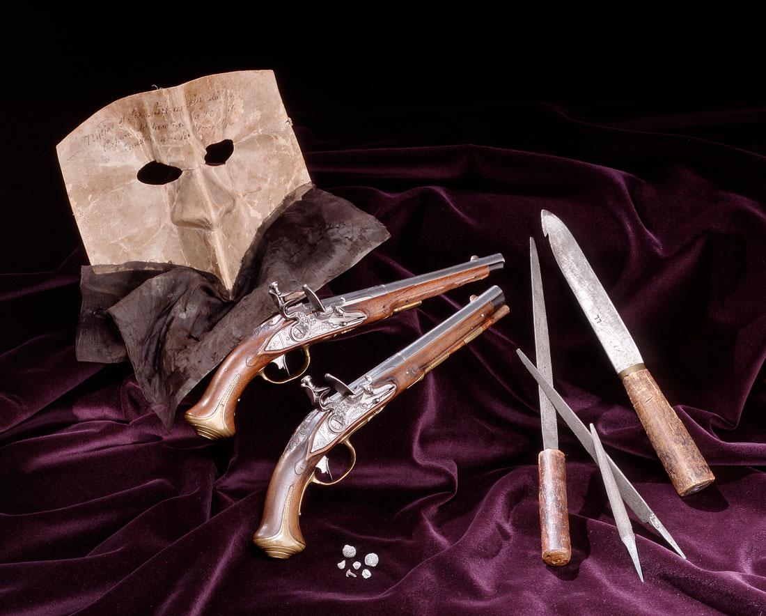 Gustav III-mordet - Anckarströms mask och pistoler