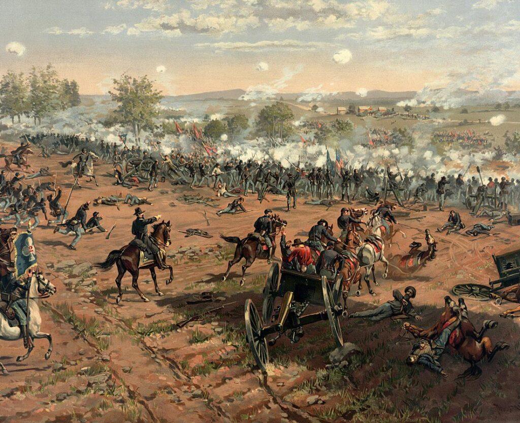Gettysburg, amerikanska inbördeskrigets blodigaste slag