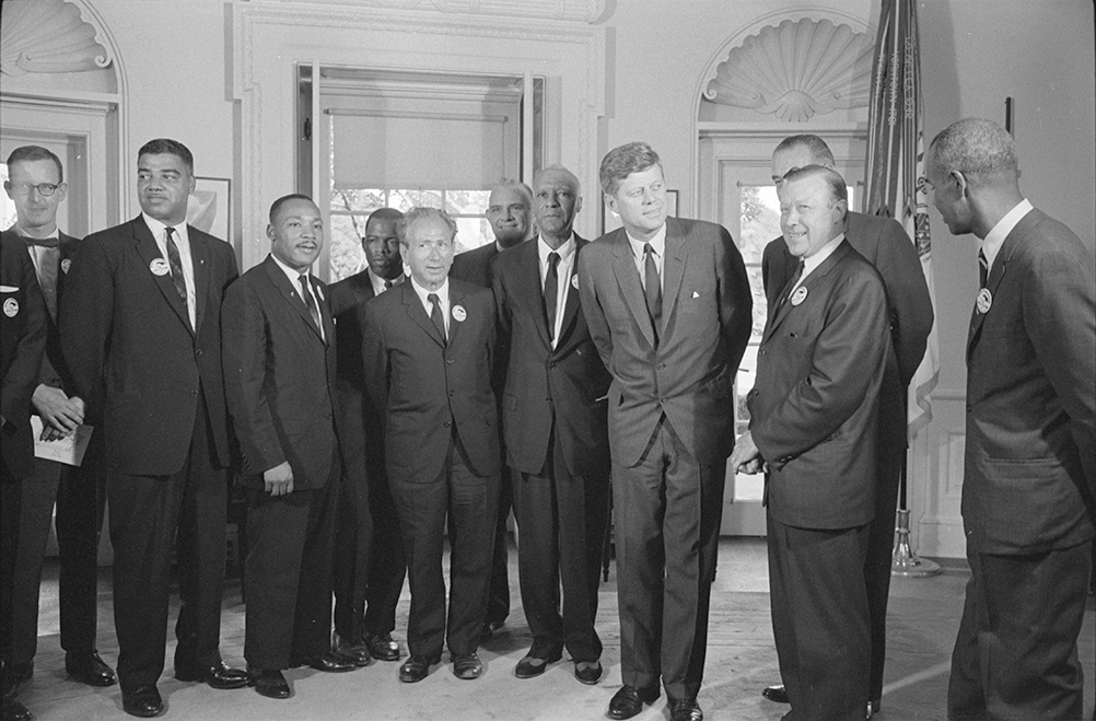 President Kennedy möter Martin Luther King, jr.