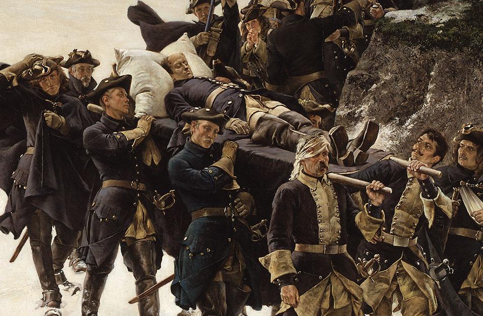 Karoliner bär den döde Karl XII, Gustaf Cederström