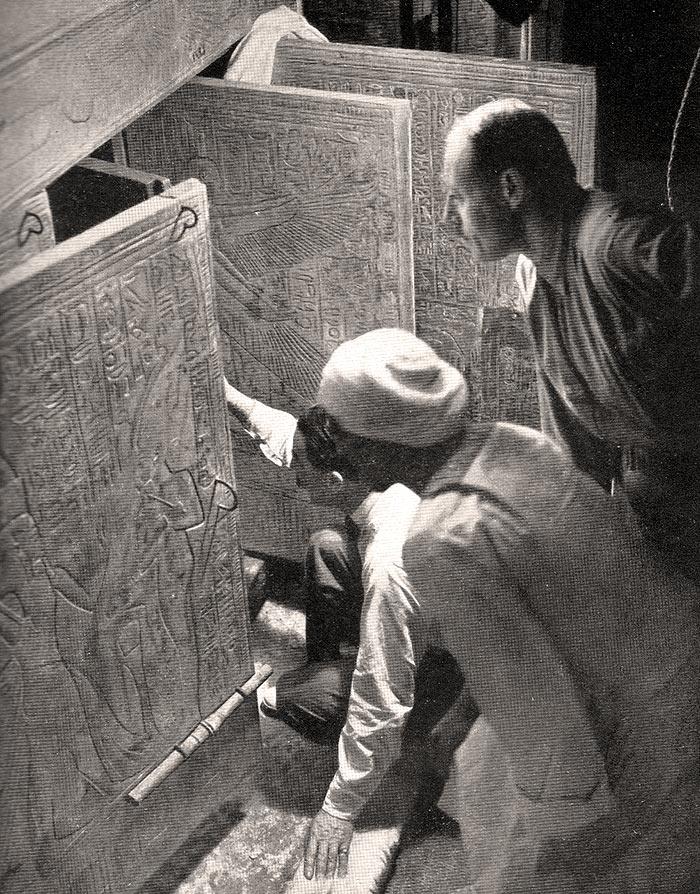 Tutankhamons grav öppnas