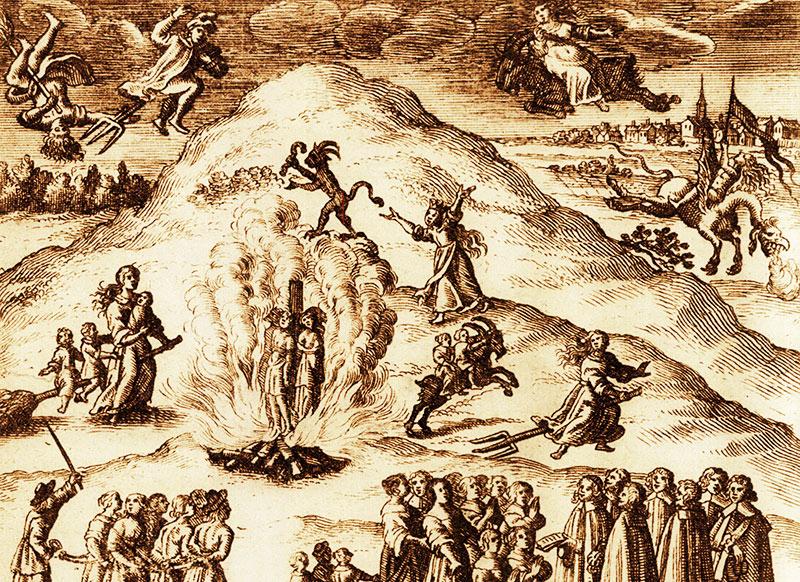 Det stora oväsendet i Mora. Tyskt kopparstick från 1670.
