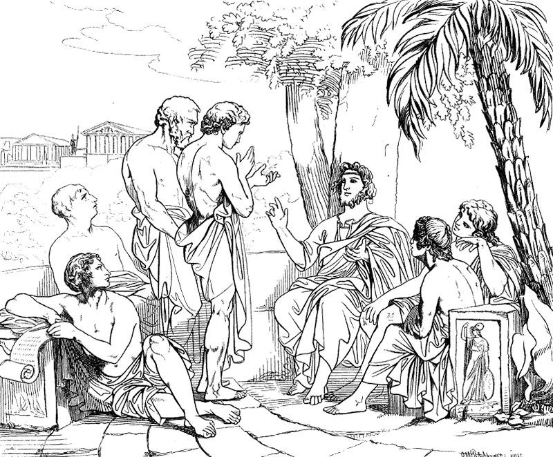 Platon i sin akademi