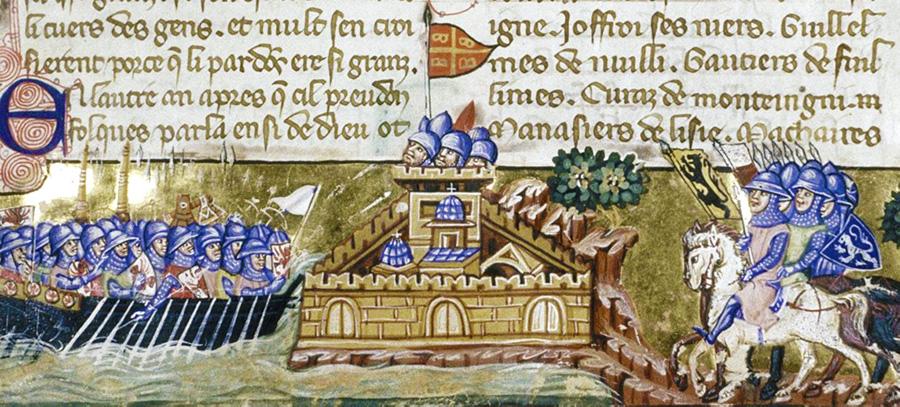 Korstågen - korsfararna anfaller Konstantinopel