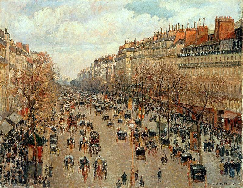 La belle époque – målning av Camille Pissarro