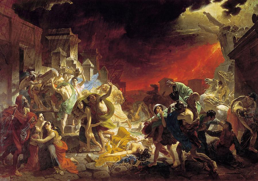 Karl Brjullov, Pompeji:s undergång