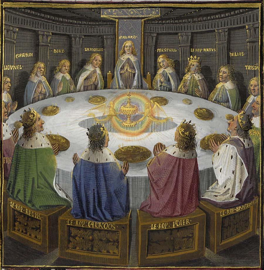 Kung Artur och hans riddare får en vision av den heliga graalen
