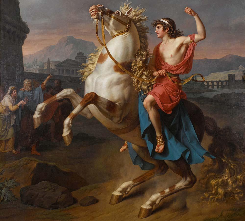 Bukefalos avbildas ofta som vit i konsten.