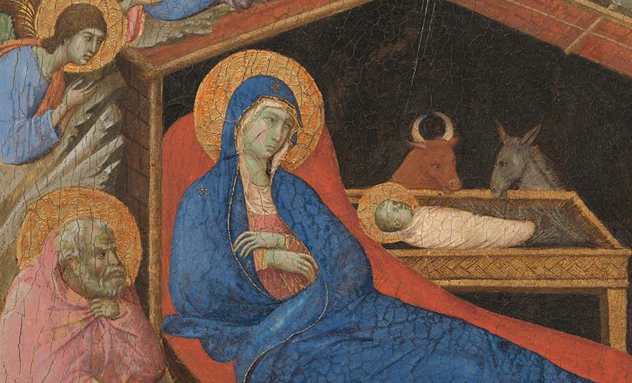"""anno Domini är latin för """"herrens år"""". Detalj från medeltida altartavla"""